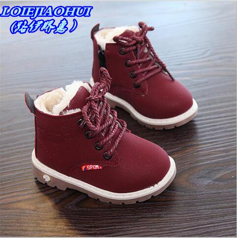 HaoChengJiaDe 2018 New Winter For Child Kid Girl Boy Snow Boots Comfort Thick Antislip Short Boots Fashion Cotton-padded Shoes