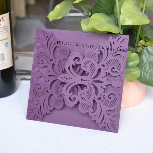 caliente venta de papel para de boda tarjetas de invitacin de boda prpura