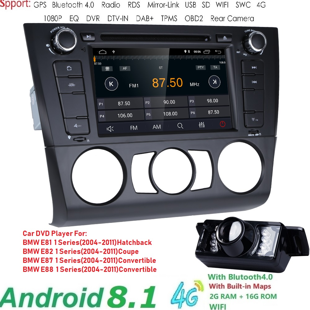Free shipping Android8.1 Car Multimedia for BMW E81 E82 E88 2004-2011 1 Series with 2G RAM Radio AMP SWC DVR RDS DAB DVBT 4GWIFIFree shipping Android8.1 Car Multimedia for BMW E81 E82 E88 2004-2011 1 Series with 2G RAM Radio AMP SWC DVR RDS DAB DVBT 4GWIFI