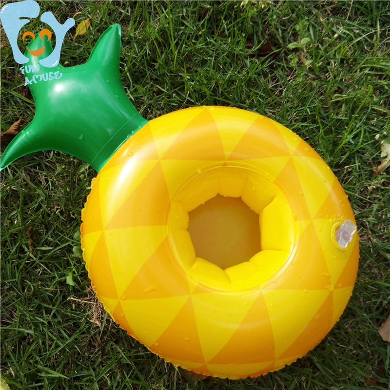 Small Inflatable Pineapple Drink Cup Holder Can Beer Floaties Pool Float Water Fun Toy Boia De Piscinas 15pcs/Pack