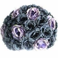 2018 SPR table centerpiece flower ball 40CM dia. black artificial rose wedding flower backdrop for party market