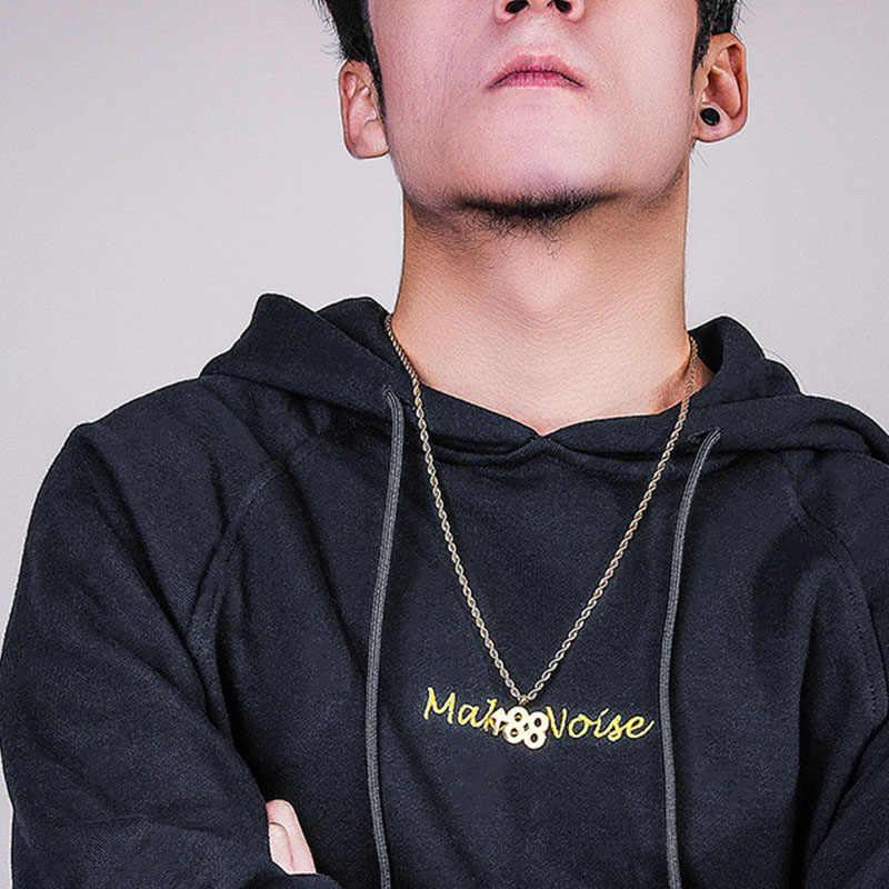 Oulai777 2019 из нержавеющей стали хип-хоп цепь ожерелья подвески подарок мужские подарки для мужчин аксессуары лучшие друзья Пара Ожерелье