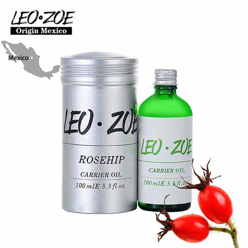 LEOZOE Pure Rosehip Oil Certificate Of Origin Mexico High Quality Carrier Rosehip Essential Oil 100ml Massage Oil three 100ml
