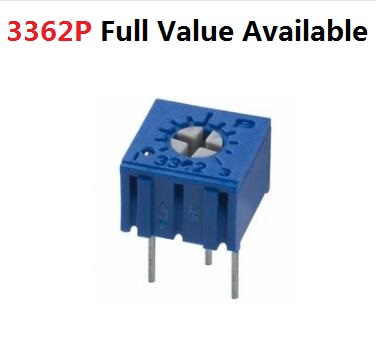 10PC 3362P-105 1M 201 503 501 204 203 103 104 202 504 102 502 101 1/5/10/20/50K 100/200/500R/K Adjustable Resistor Potentiometer