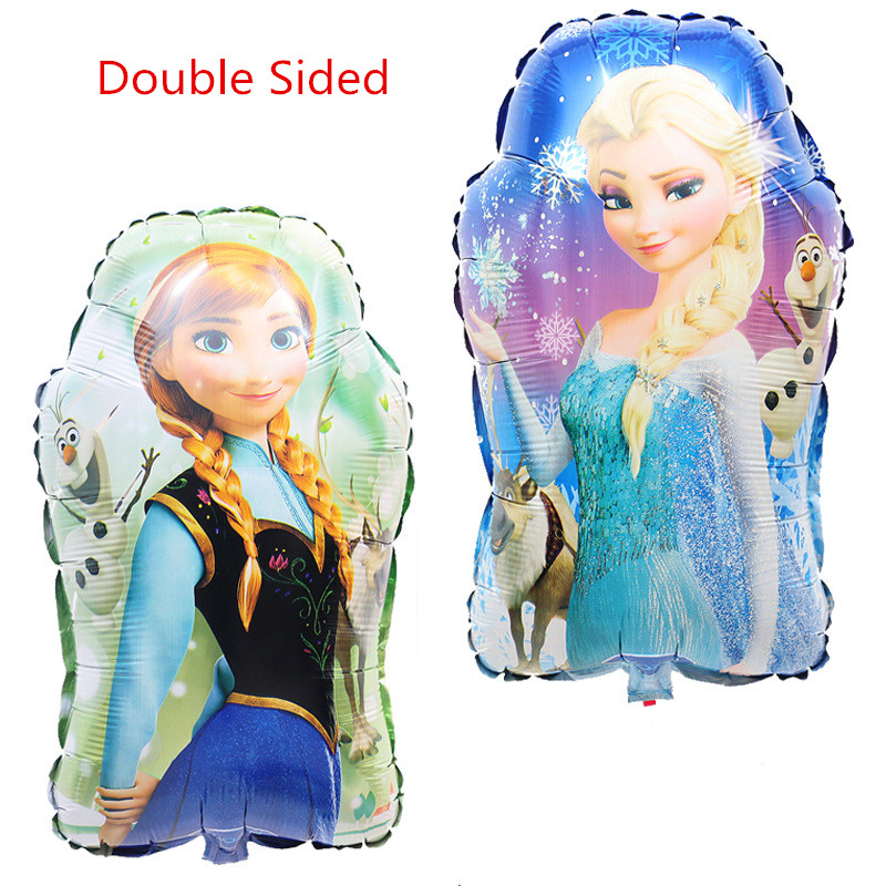 43*65cm Double Sided Princess Anna and Elsa Cartoon Foil Helium Balloons for Kid