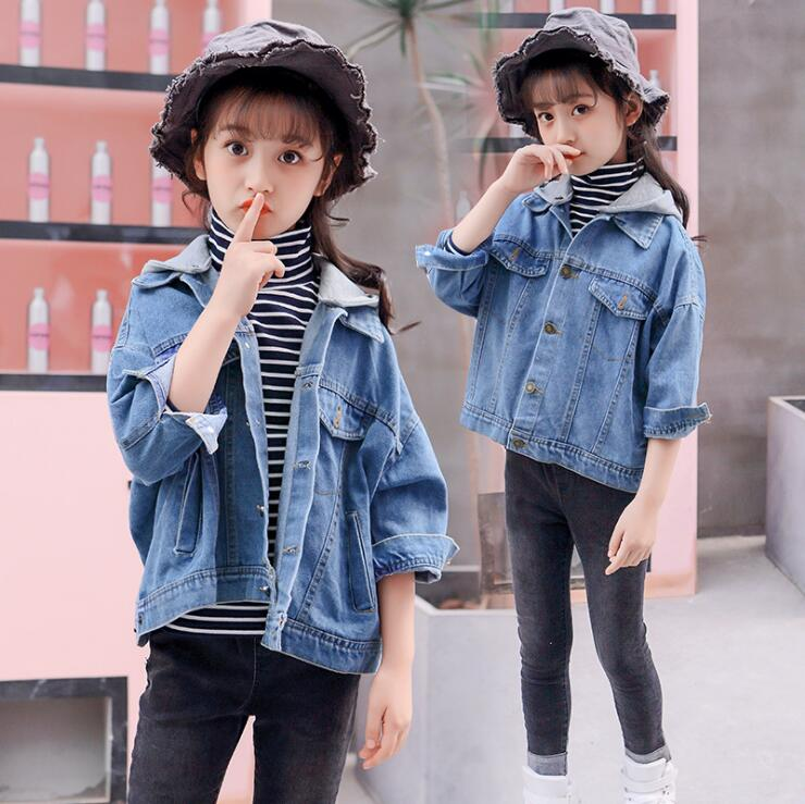 54b50f6adec7 Children s Clothing Girls Outerwear Coats Jeans Jacket 2018 Autumn New Girl  Top Clothes Streetwear Outfit Fashion Jacket WT03-in Jackets   Coats from  Mother ...