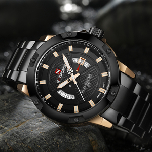 Image 3 - NAVIFORCE Mens 시계 탑 럭셔리 브랜드 남자 전체 스틸 시간 쿼츠 시계 아날로그 방수 스포츠 육군 군사 손목 시계 시계