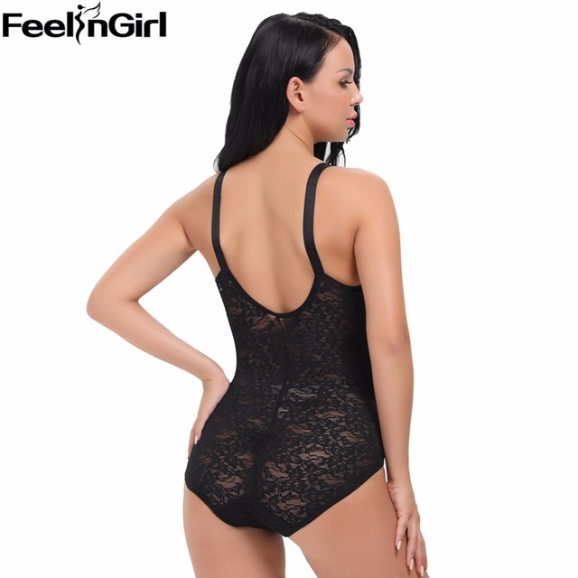 2017 Top Selling Bali Women's Shapewear Lace Smooth Body Shaper Brief Plus Size Lace Lingerie Women Bodysuit Butt Lifter-C