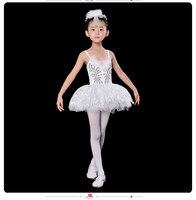 Bale Elbise ve Şapkaya ve Eldiven Çocuk Zarif Klasik Beyaz Kuğu Gölü Sahne Elbise Dans Bale Tutu Bale Kostüm Gerçekleştirmek