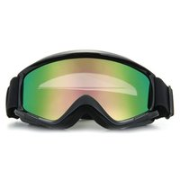 LCLL Motorcycle Motocross Helmet Ski Snowboard Eye Protection Glasses Goggle Black