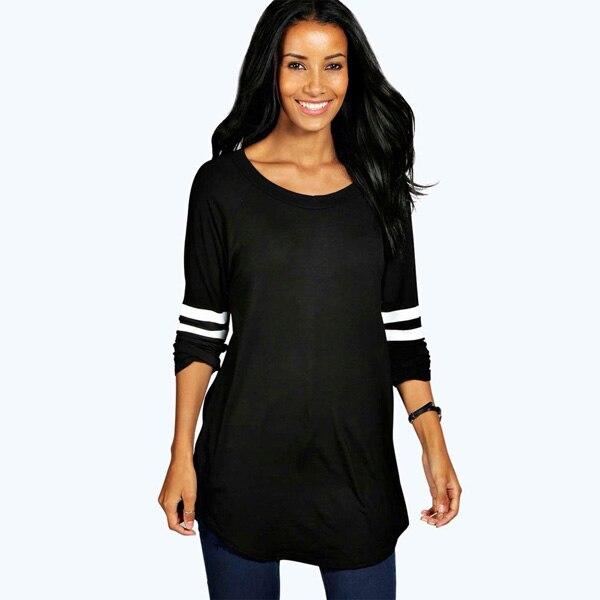 HTB1wa0AOVXXXXXEaFXXq6xXFXXX9 - T Shirt Autumn Long Sleeve Base Ball Casual Women T-shirts