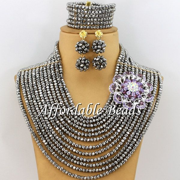 Purple Indian Jewelry Set Wedding Popular African Costume Jewelry