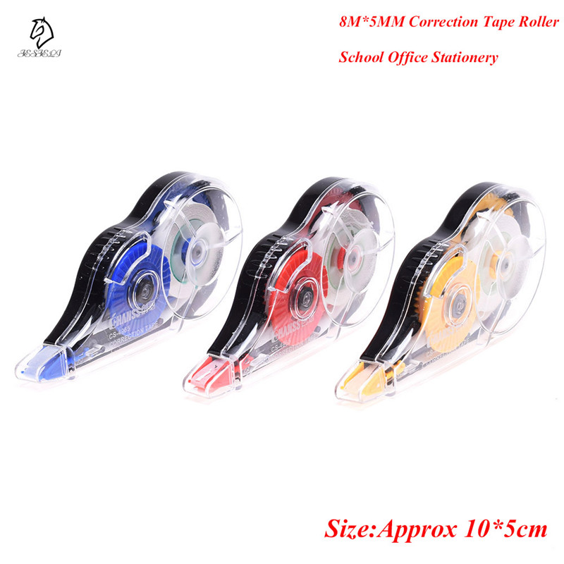 1Pcs Long Type 5mm X 8m Correction Tape Roller For Student And Officer Office School Supplies White Sticker Drop Shipping