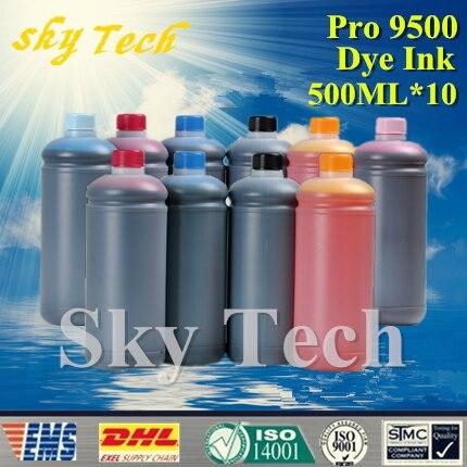500ML 10 Dye Refill ink Suit for Canon pro 9500 printer Suit for Canon PGI9 PGI7