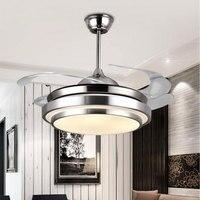 Hiện Đại Đèn Quạt Trần Đèn Điều Khiển từ xa tích hợp de techo ventilateur plafond Sans Lumiere Quạt Chiếu Sáng phòng Ăn GiườNg