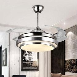 Nowoczesny sufit wentylator światła lampy pilot ventilador de techo ventilateur plafond sans lumiere wentylator oświetlenie jadalnia łóżko w Wentylatory sufitowe od Lampy i oświetlenie na