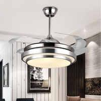 Ventilador de techo moderno lámparas Control remoto ventilador de techo plafond sans lumiere iluminación comedor cama