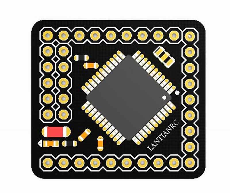 ATmega644PA 644p 16MHz 5V Open Source Development Board Compatible ATMEGA328P For RC Models open smart uno atmega328p development board
