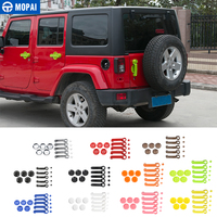 MOPAI ABS Car Door Handle Bowl Decoration Trim Cover Kit Exterior Accessories Stickers for Jeep Wrangler 2007 Up Car Styling