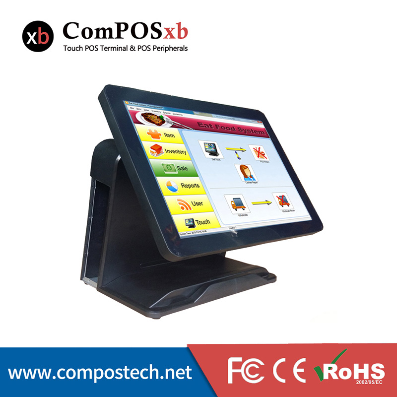 China Cheap 15''  All in One touch Screen  Restaurant System POS Terminal With i3 Processor 4G/64G wavelets processor