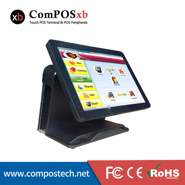 China Cheap 15''  All in One touch Screen  Restaurant System POS Terminal With i5 Processor 4G/64G