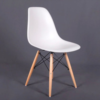Factory Sale PP Dining Chair Living Room Furniture Beech Wood Dowel Legs Side Chair