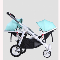 HK free delivery! Twins baby Stroller Motherknows twins strollers have many ways combine Prams for summer or winter