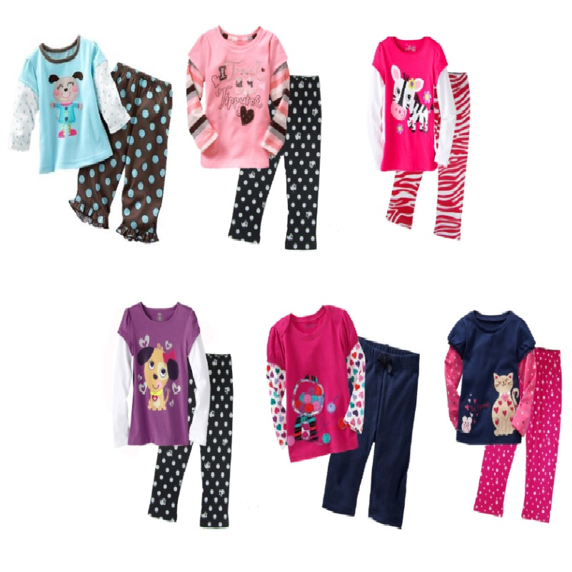 Hooyi Baby Girls Clothes Suits Discount Top Quality Children Outfits Sport Suits Kids Tracksuits Long Sleeve Autumn T-Shirts