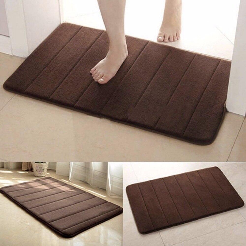 Home Practical Anti Slip Mat Rug Bathroom Non-Slipping Mats Memory Foam Rug Shower Carpet Pad For Bathroom Kitchen