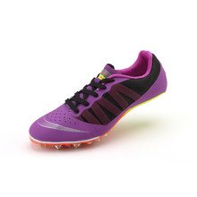 Men Women Breathable Track and Field Spike Nail Shoes Training Sprint Athletics Shoes Lace Up Track & Field Shoes(China)