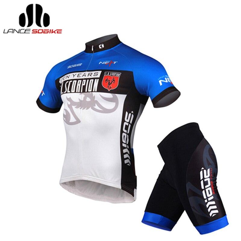SOBIKE AIRPASS мужская открытый спортивная велосипед велоспорт цикл одежда костюмы с коротким рукавом джерси, 3D Paded шорты -Scorpion