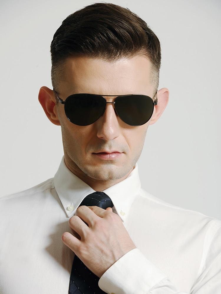 Haute qualité lunettes de soleil hommes verre polarisé vert lentille titane femmes hommes conduite lunettes marque Gafas Oculos lunettes de soleil 8105BY