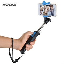 2016 Mpow iSnap Y One-piece Portable Small Tripod Monopod Selfie Stick Bluetooth Remote Shutter for iPhone 6s Android Xiaomi(China)