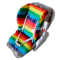 Waterproof Baby Stroller Cushion Stroller Pad Pram Padding Liner Car Seat Pad Baby Chair Rainbow Cotton Mat Bean Bag