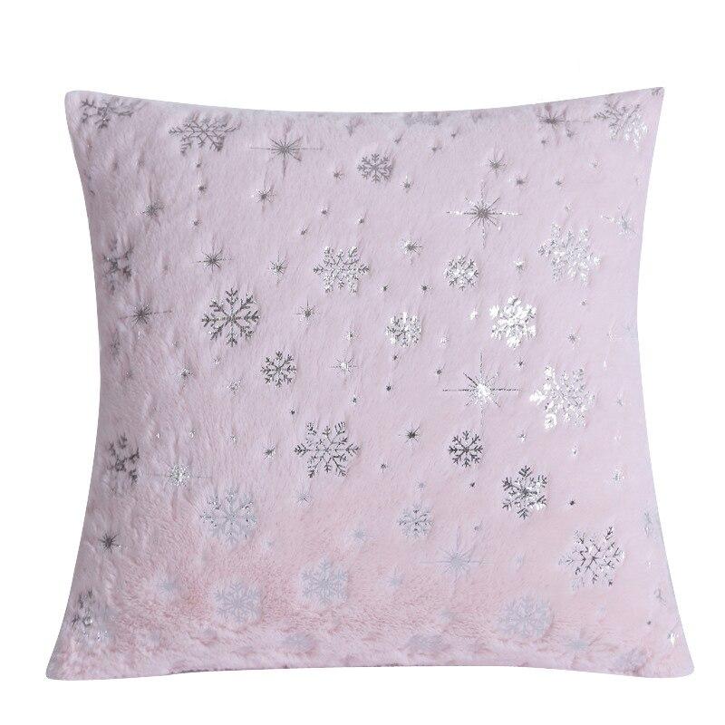 Декоративные подушки в виде снежинки, Мягкая Наволочка для подушки, плюшевая наволочка для диванной подушки, чехол для диванной подушки, до...