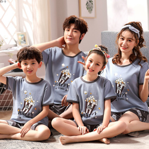 Image 5 - Summer 2019 New Childrens Pajamas Set Cartoon Family Matching Outfits Mother and Daughter Sleepwear Dad Son Pyjama Suit Lounge