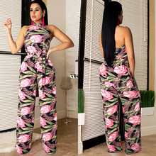 fashion 2 piece set women summer jumpsuits Lace sleeveless sexy backless loose rompers womens jumpsuit combinaison femme