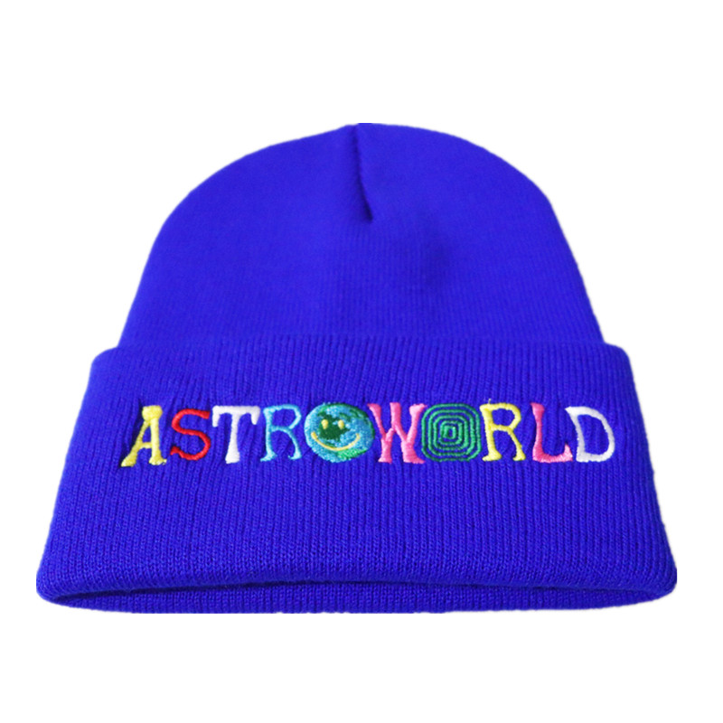 Travi$ Scotts Knitted Hat 2018 New ASTROWORLD   Beanie   embroidery Astroworld Ski Warm Winter Unisex Travis Scotts   Skullies     Beanies