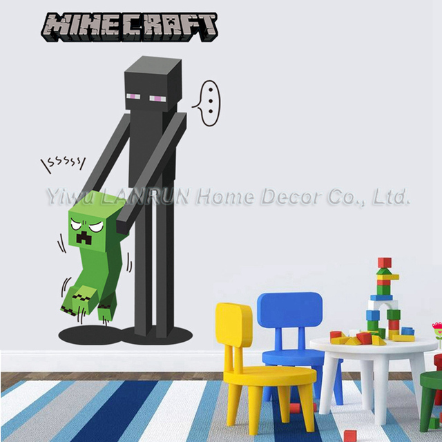minecraft 3d wall sticker for kids room wallpaper home decoration game