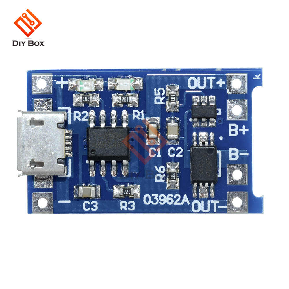5PCS DC 5V 1A 18650 Lithium Battery Charger Module Linear Charging Board Panel Short Circuit Protection Micro USB DIY TP4056 LED5PCS DC 5V 1A 18650 Lithium Battery Charger Module Linear Charging Board Panel Short Circuit Protection Micro USB DIY TP4056 LED