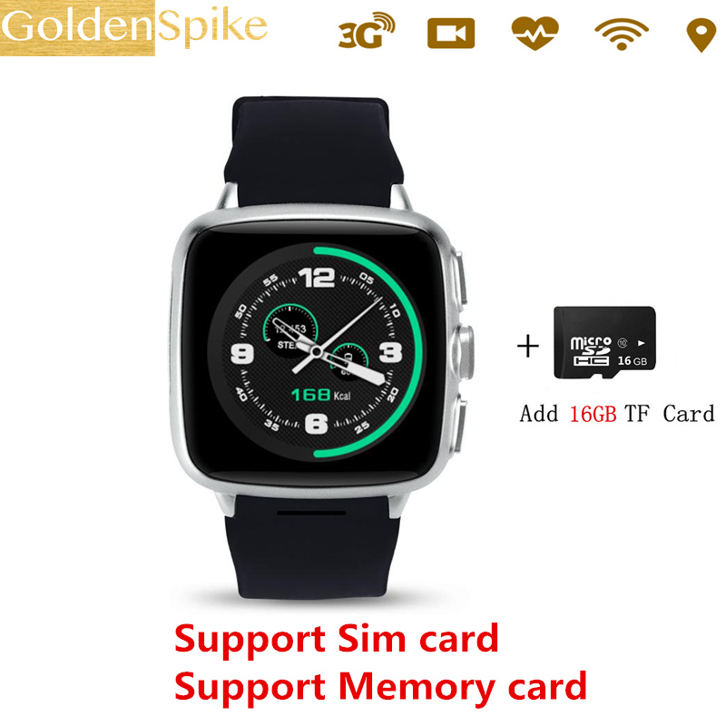 Smart watch Z01 Android 4.4 metel 3G smartwatch 1G RAM 8G ROM 5MP camera heart rate monitor Pedometer WIFI GPS reloj inteligente
