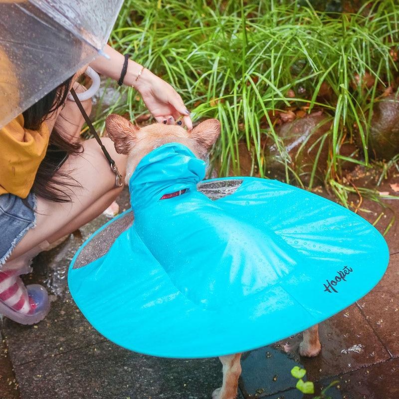 1pcs Flying Discs Shape Pet Dog Raincoat UFO Puppy Golden Retriever Waterproof Rain Coat Puppy Large Dog Clothes Pet Supplies