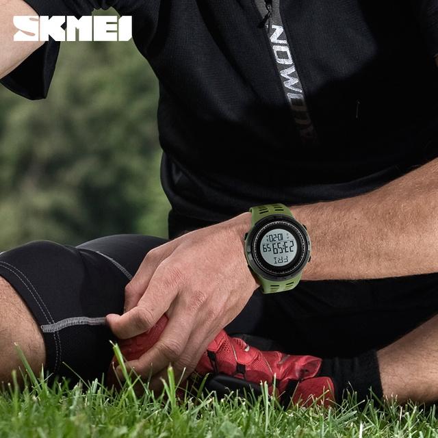 Skmei Luxury Brand Mens Digital Watch 50M Waterproof Pedometer Sports Watches Outdoor Running Military Electronic Wrist Watches