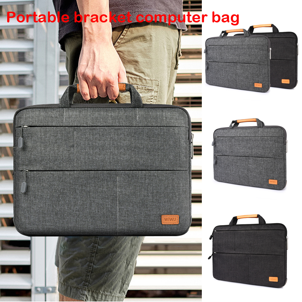 HTB1wa36bwFY.1VjSZFnq6AFHXXak Unisex Solid Waterproof Laptop Computer Bag Breifcase Sleeve Case Bag Dell HP 11/13/15/In