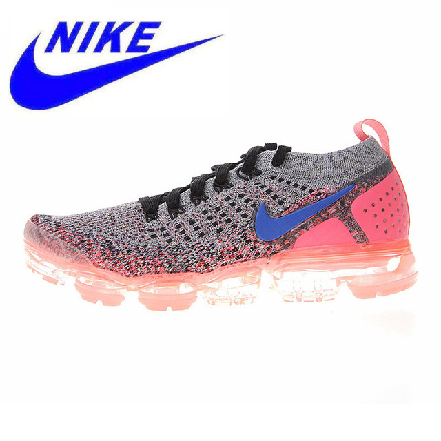buy online 25d33 223f2 US $133.11 49% OFF|Nike Air Vapormax Flyknit 2.0 Women's Running Shoes, Non  slip,Lightweight, Shock absorbing,Grey & Red/Pink 942843 104 942843 800-in  ...