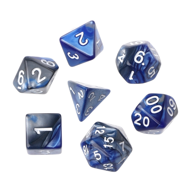 7pcs/Set Acrylic Polyhedral Dice For TRPG Board Game Dungeons And Dragons D4-D20 Playing