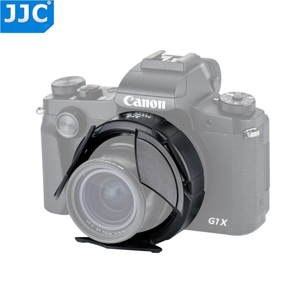 JJC Kamera Auto Objektiv Kappe für Canon PowerShot G1X Mark III Schwarz Automatische Objektiv Protector Selbst-Halte