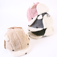 2018 Hot sprzedaży zima urocze zwierzę czapki dla dzieci dzieci czapki czapki Bomber czapki nauszniki dla chłopca i dziewcząt kapelusze tanie tanio NoEnName_Null Unisex Zwierząt Kapelusze bomber DM289 Poliester