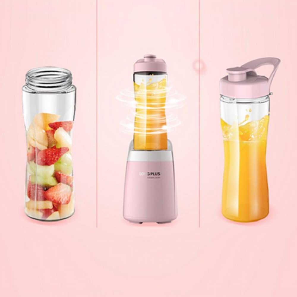 Кухонные гаджеты бытовой многофункциональный мини портативный розовый персональный блендер фруктовый соковыжималка 300 Вт модный дизайн блендер