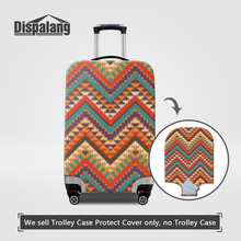 Dispalang Case For A Suitcase Striped Patterns Luggage Protect Covers For 18~30 Inch Trolley Trunk Women Rain Travel Accessories